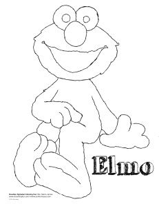 Another Elmo coloring page