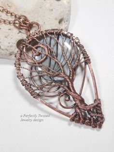 SOLD! Wire Wrapped Tree of Life Prosperity Pendant by PerfectlyTwisted