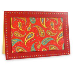 Beautiful Paisely Pattern Card  This beautiful ethnic card will make your wishes last forever and spread happiness among your loved ones. | Rs. 75 | Shop Now | https://hallmarkcards.co.in/collections/shop-all/products/beautiful-paisely-pattern-card | Card Size :20.5*14