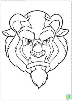 The Beauty And Beast Coloring Pages Called Face To This Drawing Depicts In Great Detail Of Prince Adam When He Was A