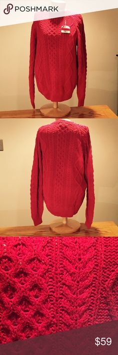 "🆕 Orvis Red Sweater. Size Large 🆕 Orvis Red Sweater. Size Large. 75% silk 25% cotton.  27"" long. Orvis Sweaters Crew & Scoop Necks"