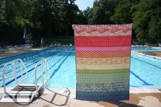 Lightweight, summery quilt made from Anna Maria Horner's Little Folks cotton voile by Katie at www.swimbikequilt.com.