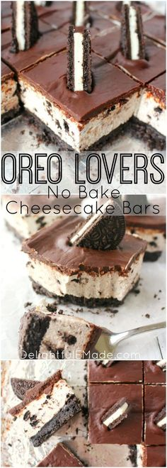 Easy, no-bake Oreo cheesecake dessert recipe