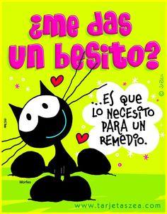 Amor que cura-Tarjeta de amor-gato enamorado ZEA www.tarjetaszea.com