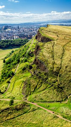 Arthur's Seat, overlooking Edinburgh. Was here in 2005