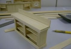How to: Miniature Sideboard Tutorial and more on the website....veneer floors, dining room table....
