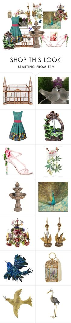 """""""Love at First Sight"""" by ccmonkvintage on Polyvore featuring Universal Lighting and Decor, Dolce&Gabbana, Trademark Fine Art, Canopy Designs, Katherine's Collection, Judith Leiber, Buccellati and Smart Solar"""