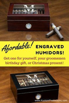 Humidor, Cigar Humidor, Cigar Lover, Desk Top Humidor, Groomsmen Gift, Birthday Gift, Christmas Gift