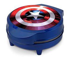 Marvel MVA-278 Captain America Shield Waffle Maker, Blue ...