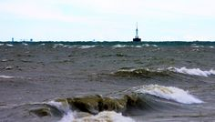 Gravelly Shoals offshore Light in Saginaw Bay, photo by George Thomas The entry on Gravelly Shoal Light at Terry Pepper's Seeing the Light begins: Point Lookout juts from the shore on the wes…