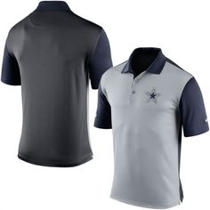 Nike Dallas Cowboys Charcoal Preseason Performance Polo Shirt