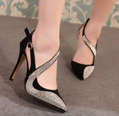 Femmes Scintillement Talons Hauts Fête Chaussures Soirée Chaussures Mariage Chaussures Talon Bloc
