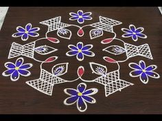 Sankranti muggulu with middle dots / kolam designs with 13 dots / easy and simple rangoli