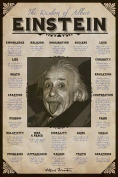 Albert Einstein - Quotes - Official Poster