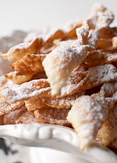 pyszne delikatne faworki z milionem bąbelków Beignets, Polish Recipes, Polish Food, Biscuits, Snack Recipes, Snacks, Food To Make, Cereal, Chips