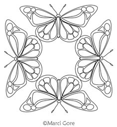 Butterfly Stencil, Butterfly Drawing, Butterfly Pattern, Butterfly Design, Longarm Quilting, Free Motion Quilting, Animal Coloring Pages, Coloring Books, Hand Embroidery Patterns