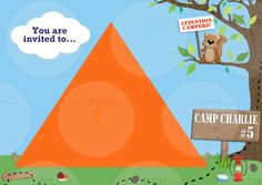 Camping Birthday Party Invitation 5x7 by MessiHausDesigns on Etsy