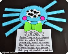 Step into 2nd Grade with Mrs. Lemons: Great ideas in this post for non-fiction writing on spiders. Plus great ideas for anchor charts!
