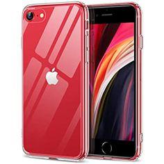 ESR Coque pour iPhone Se 2020, Coque pour iPhone 8, iPhone 7, [Série Mimic] Verre trempé 9H Anti-Jaunissement, Coque arrière de Protection Fine avec Bumper en TPU Souple, Transparent
