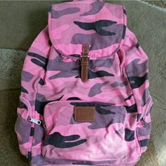 PINK Victoria's Secret Bags - Bright Pink Camo Backpack