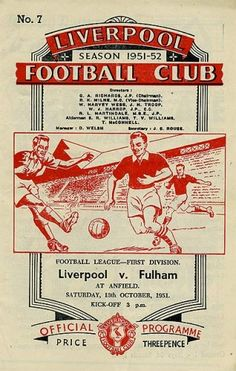 Liverpool vs Fulham 13.10.1951