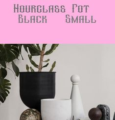 As a grand gesture to your property and vegetation, the Hourglass Pot offers your vegetation an elevated stand and roomy container by which to unfold their roots. You should use the pot each methods based on the plant's wants, and. Hourglass, Planter Pots, Decoration, Black, Ideas, Dekoration, Black People, Decorating, Deco
