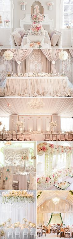 30 Stunning Luxury Indoor Reception Decoration Ideas You don't Want to Miss! (Elegant White):