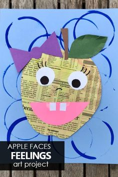 Learn about feelings and social emotional vocabulary with this apple faces feelings art project for kids Kids Painting Activities, Autumn Activities, Painting For Kids, Preschool Activities, Art For Kids, Summer Art Projects, Projects For Kids, Social Emotional Learning, Fun Learning