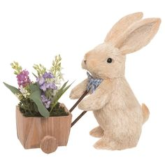 This beautiful piece from Transpac's Easter Elegance collection is sure to bring some added flair to your Easter season. Made of fabric, this bunny with wheelbarrow decor is the perfect addition to your Wheelbarrow Decor, Easter Season, Easter Parade, Bunch Of Flowers, Easter Crafts, Easter Decor, Bunny Crafts, Easter Ideas, Easter Bunny