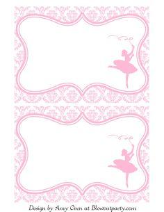 Title Slide of Ballerina party-free-printable-invitation Barbie Birthday Invitations, Birthday Invitation Templates, Invitation Wording, Invites, Dance Crafts, Ballerina Baby Showers, Ballerina Birthday Parties, Free Printable Invitations, Printable Party