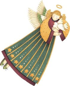 Debbie Mumm - Carla Simons - Álbuns da web do Picasa Christmas Angels, Christmas Art, Decoupage, Handmade Angels, Angel Crafts, Christmas Drawing, Guardian Angels, Angel Art, Sacred Art