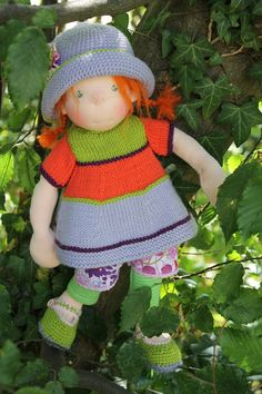Handmade Doll Waldorf Style, Puppenliesl Doll, Fabric doll, Cloth Doll