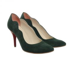 Emerald and ruby Romania, Emerald, Peep Toe, Pumps, Shoes, Fashion, Choux Pastry, Moda, Zapatos