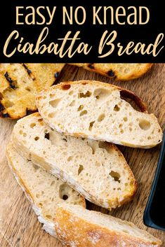 Easy homemade no knead ciabatta bread is a tasty version of the classic Italian bread. Your family will adore this freshly baked loaf. With just a few basic ingredients and an easy prep, you'll want to make this recipe over and over again so you and your family can enjoy freshly baked bread regularly. Easy Healthy Recipes, Vegetarian Recipes, Easy Meals, Cheap Meals, Vegan Vegetarian, Yummy Recipes, No Knead Ciabatta Bread Recipe, Instant Pot Dinner Recipes, Italian Bread