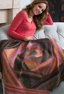 How cool is this Woodsy Chic Triangle Lapghan? It's the perfect pattern if you're looking for a rustic look for fall.