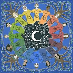 Sister Circle - Gouache on Arches paper, in Mandala Prints Circle Painting, Arches Paper, Circle Art, Sacred Feminine, Goddess Art, Mystique, Do It Yourself Home, Selling Art, Wicca