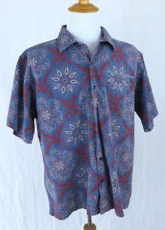 Polo Ralph Lauren Hawaiian Shirt XL Vintage Camp Red Paisley Thick Cotton Aloha #PoloRalphLauren #Hawaiian