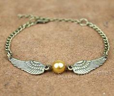 Golden Snitch Bracelet Harry Potter  bronze wings by superbracelet, $2.99