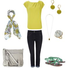 Green + Gray..., created by daniellej1116.polyvore.com