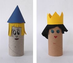 Learn basic math skills with toilet paper for Toilet roll puppets