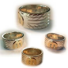 Exclusive hand made and engraved Mopar Tyre (tire) rings from solid sterling silver with a solid gold M in soldered individually on the top. Choose your own tread pattern for the design. Silver Ring Designs, Mopar, Solid Gold, Sterling Silver Rings, Rings For Men, Wedding Rings, Engagement Rings, Jewellery, Pattern