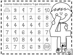 Creativas actividades para el trazo de los números del 1 al 5 para preescolar y primer grado de primaria | Educación Primaria Numbers Preschool, Learning Numbers, Free Preschool, Preschool Worksheets, Preschool Classroom, Preschool Activities, Kindergarten Math Activities, Special Needs Kids, Math For Kids