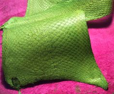 Genuine  Exotic Fish Leather Skin bright colors waterproof, odorless & durable check it out! Perfect for all your leather projects - bookbinding, jewelry, shoes, bracelets, bags, purses eco-friendly by product by FishLeatherIceland