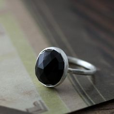 onyx ring by Andrea Bonelli Jewelry
