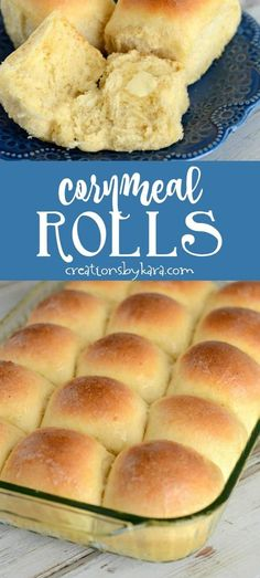 Cornmeal rolls - a yummy twist on traditional yeast rolls. Everyone will love these soft and fluffy rolls!