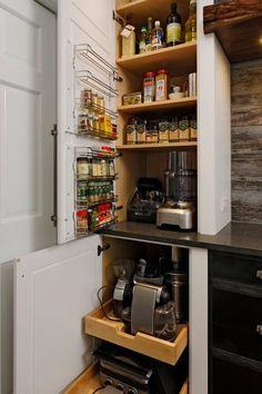 Smart Storage in Chic, Custom Kitchen