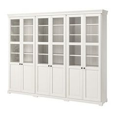 LIATORP Storage combination with doors, white, 108 Are you a romantic at heart? The delicate shapes and details are reminiscent of country living. Combine with other furniture in the LIATORP series for a complete, beautiful look. Kitchen Display Cabinet, Kitchen Wall Cabinets, Storage Cabinets, Floor To Ceiling Cabinets, China Cabinet Display, Display Cabinets, Dining Room Storage, Dining Room Design, Ikea Liatorp