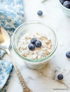 blueberry-chia-overnight-oats2 | flavorthemoments.com