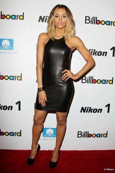 "Ciara, osez son total-look en cuir lors des ""Billboard Women in Music 2012"" de New York, le 30 novembre 2012."