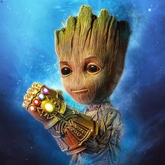 What is the first thing Groot will do after acquiring the Infinity Gauntlet? #groot #iamgroot #gotg #marvel #thanos #infinity #gaunlet
